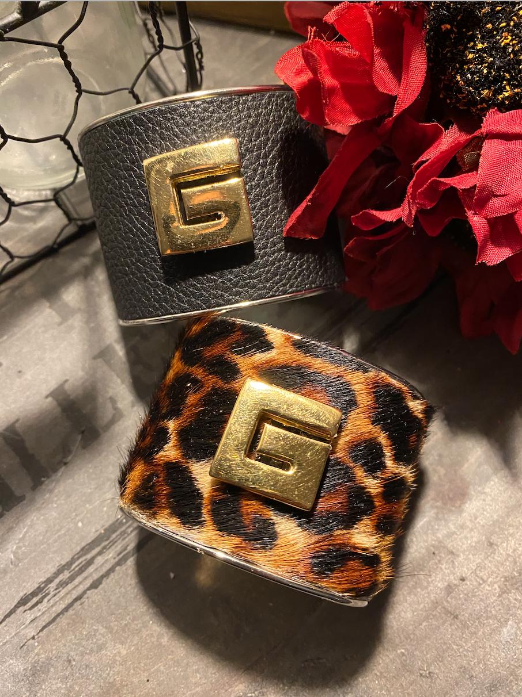 Blk Givenchy Statement Cuff