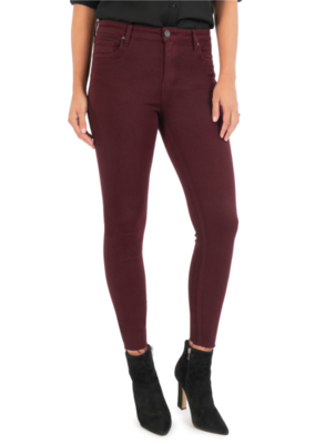 Wine Donna High Rise Ankle