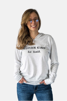 Human Kind Hoodie-H. White
