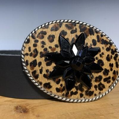 Leopard Vtg. Brooch Statement Belt