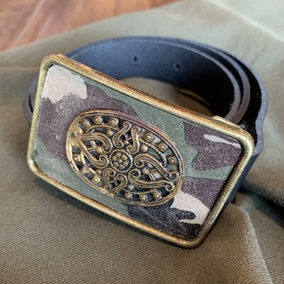 Camo Brass Vtg. Petite Belt