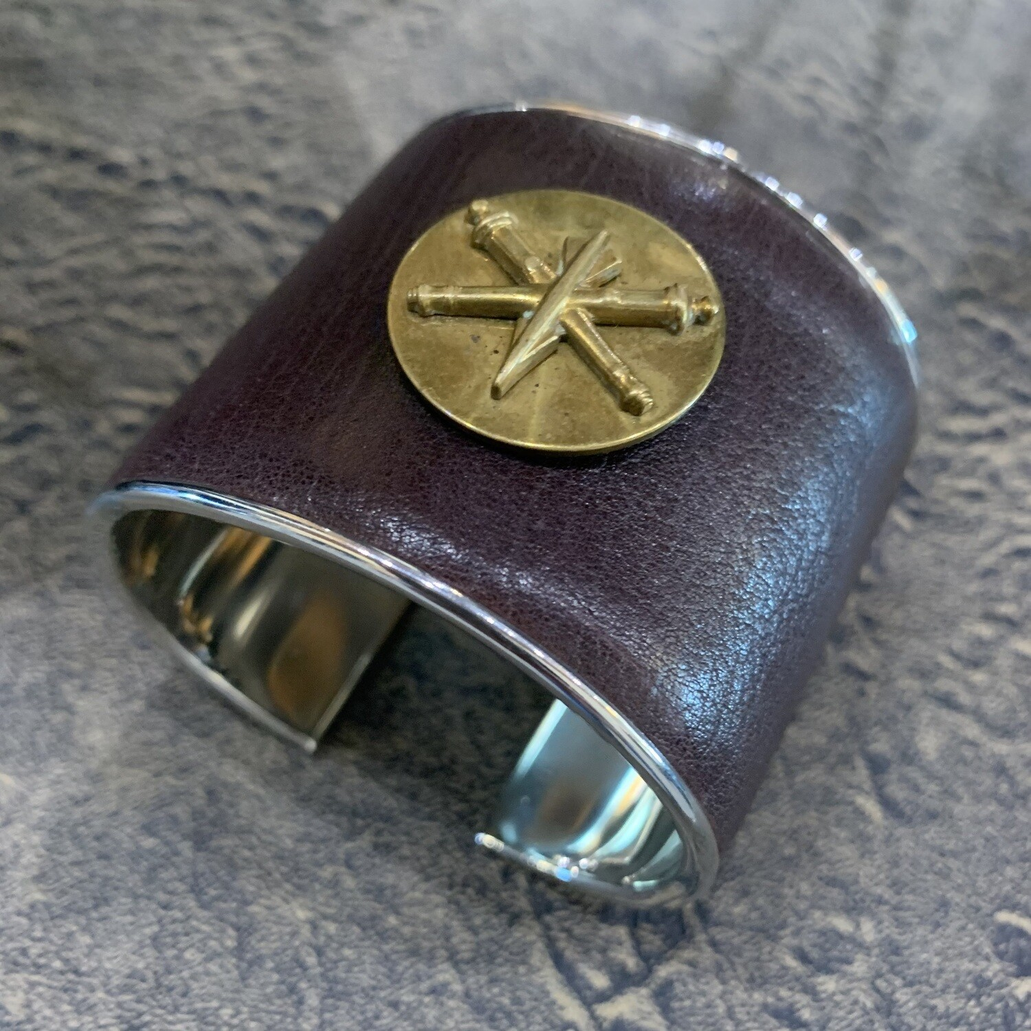 Vtg. Military Pin Statement Cuff