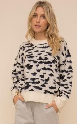 Blk/Blue Cheetah Sweater