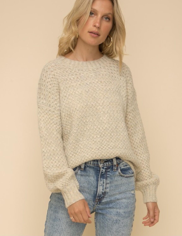 Beige Textured Sweater