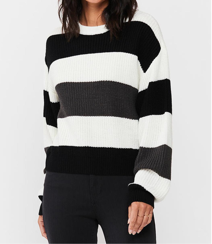 Blk/Grey Stripe Sweater