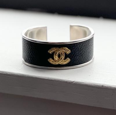 Vtg. Gold Chanel Petite Cuff