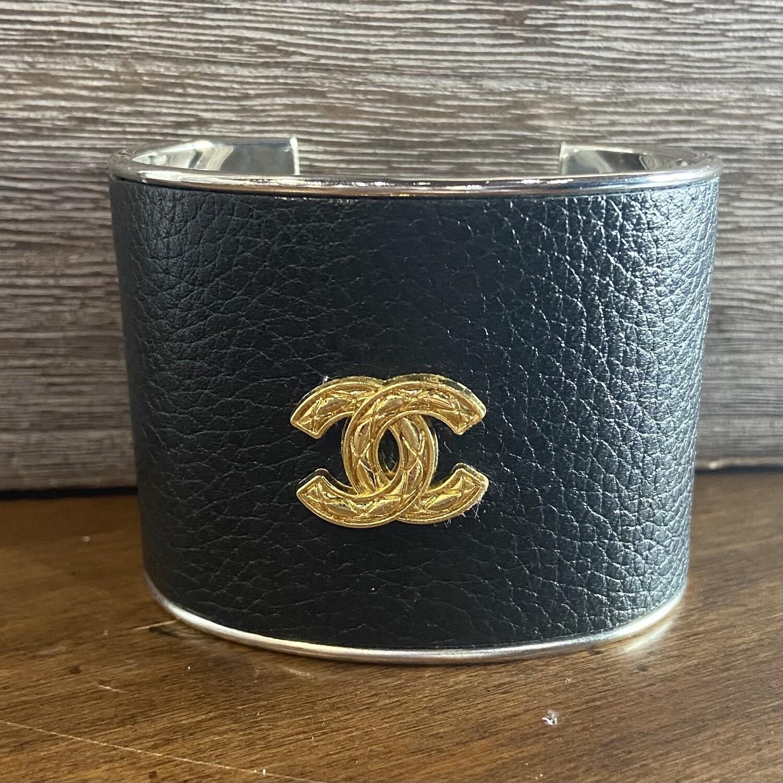 Vtg. Gold Chanel Statement Cuff