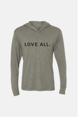 Love All Hoodie- Charcoal