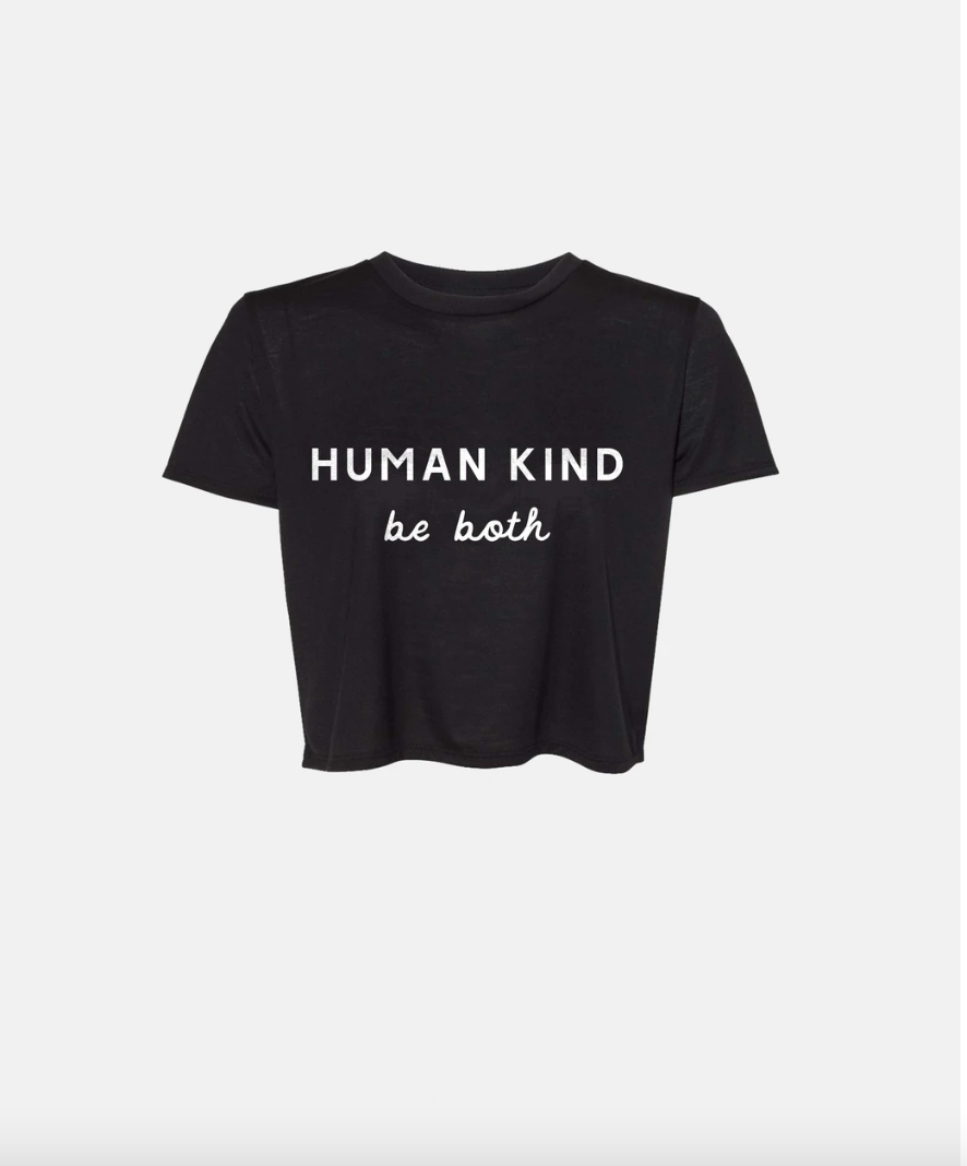 Human Kind Crop- Black