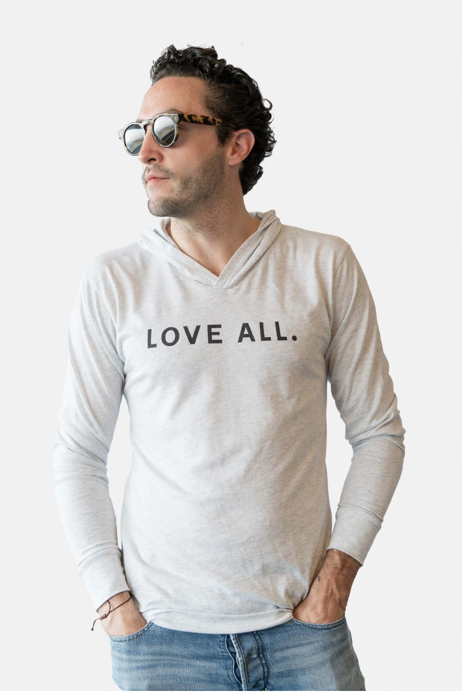 Love All Hoodie-H. Grey