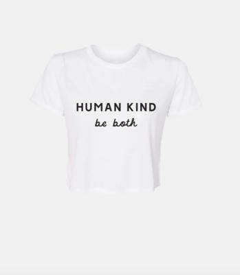 Human Kind Crop- White