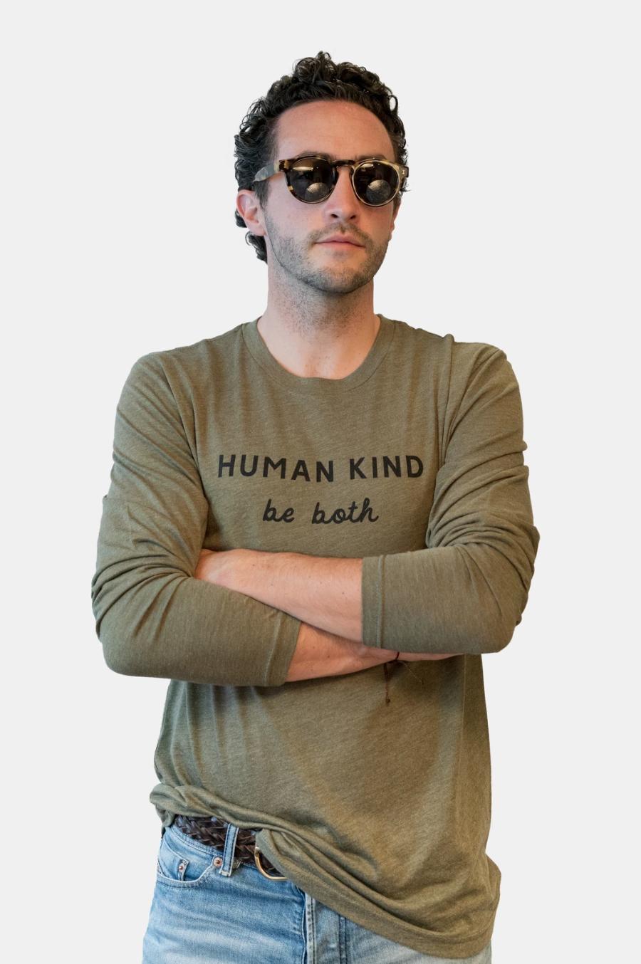 Human Kind L/S- Olive