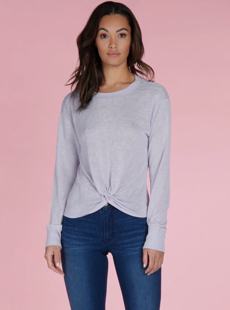 Lilac Knot-Front Top