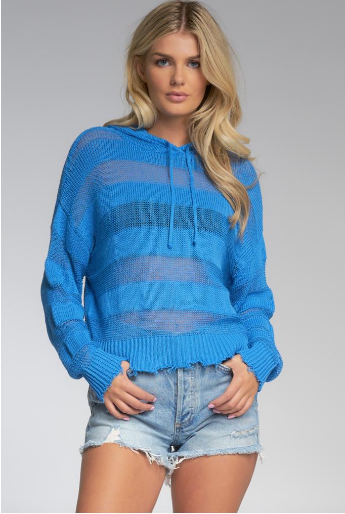 Blue Sweater w/ Hood