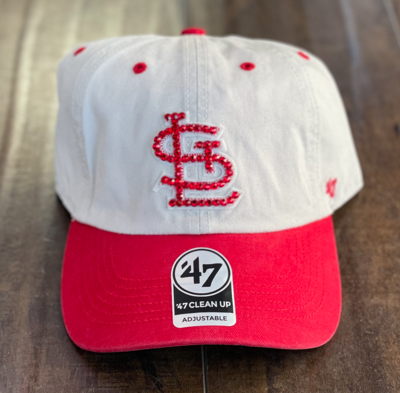 Red/Khaki '47 Hat W/ Red Crystal