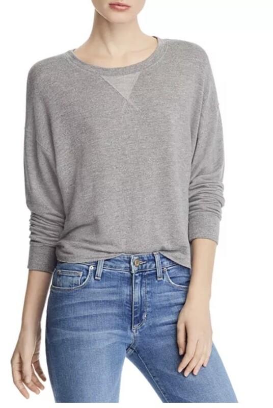 Grey Crop Sweatshirt