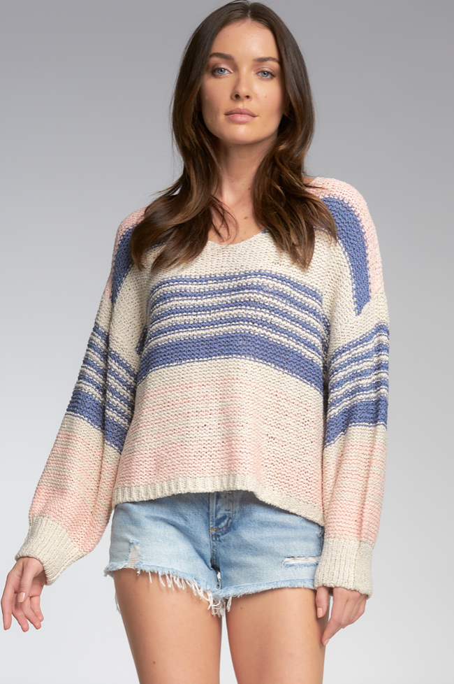 Natural Stripe Sweater