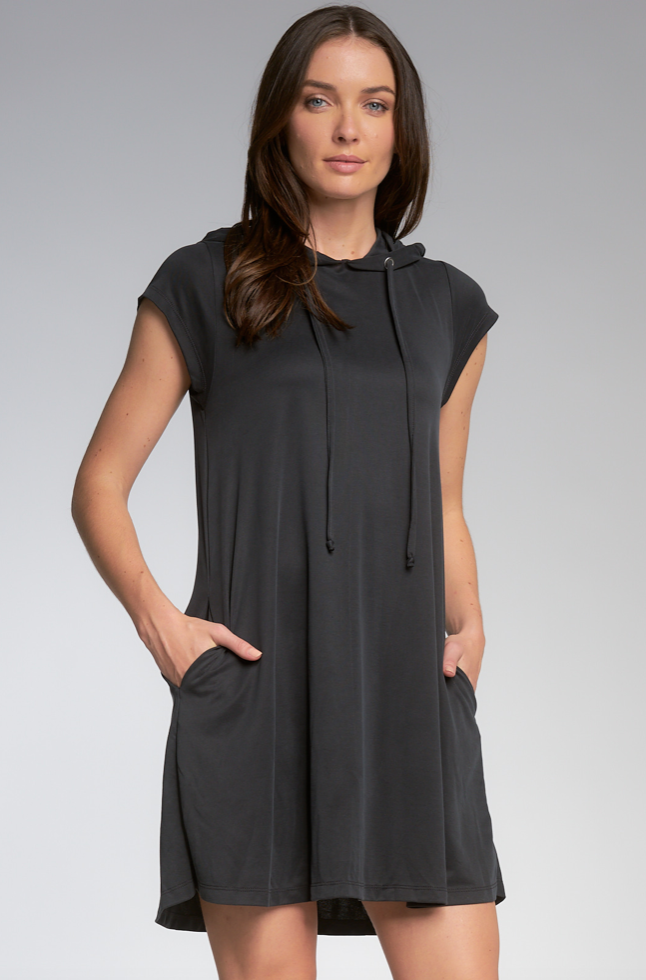 Charcoal Hooded Dress