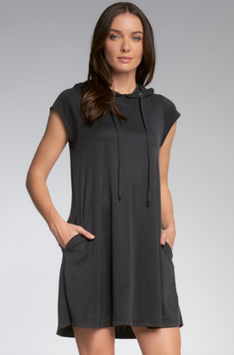 Charcoal Hooded Dress