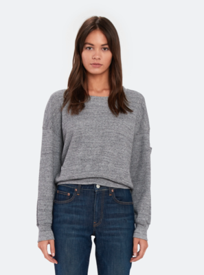 Waffled Grey Pullover