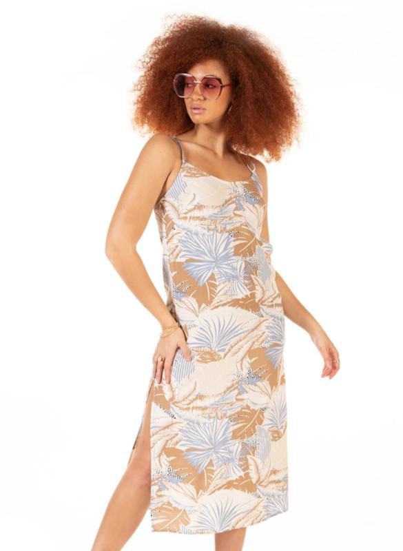 Island Print Maxi Dress