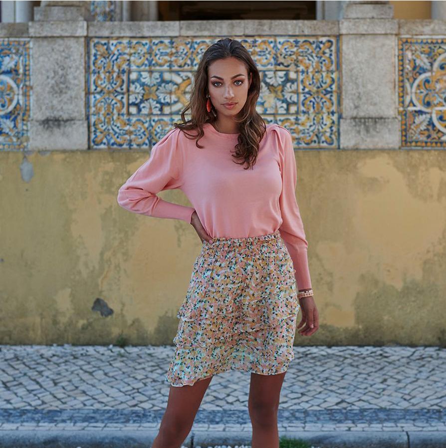 Floral Ruffles Skirt
