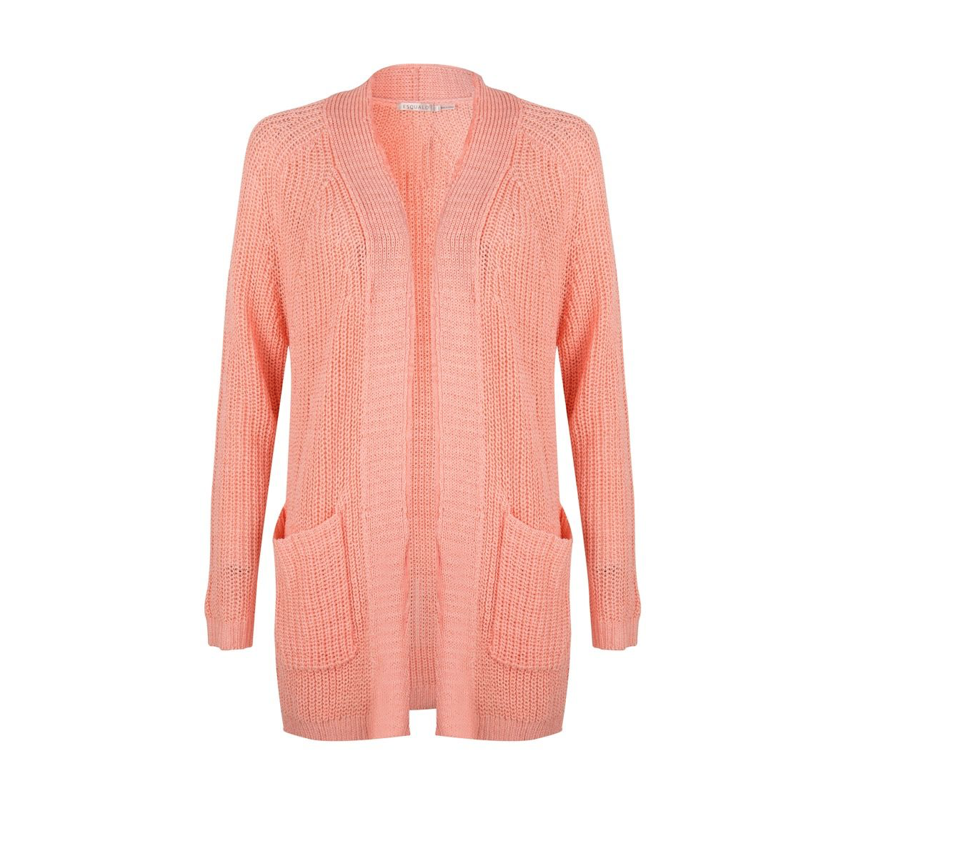 Coral Open Cardigan