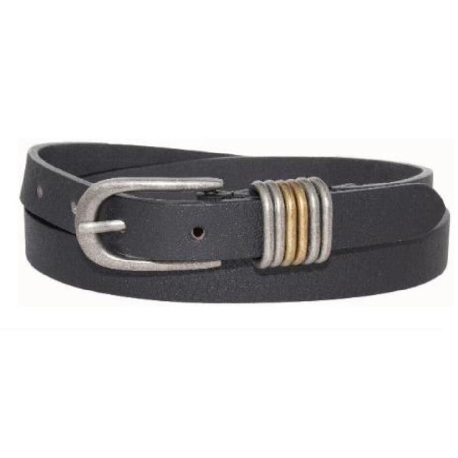 Black Multi-Loops Belt