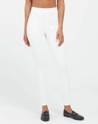 White Pull-On Skinny Jean