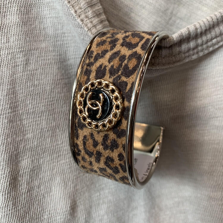 Leopard Chanel Petite Cuff