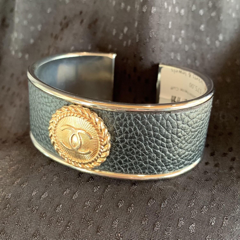 Gold Chanel Button Petite Cuff