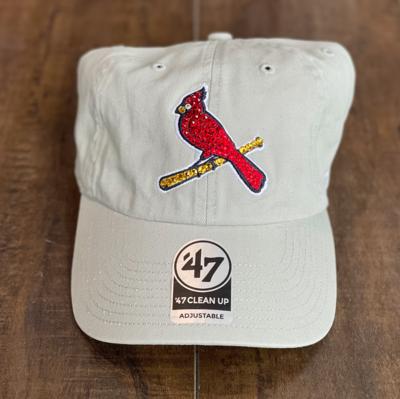 Grey '47 Bird Hat W/ Red