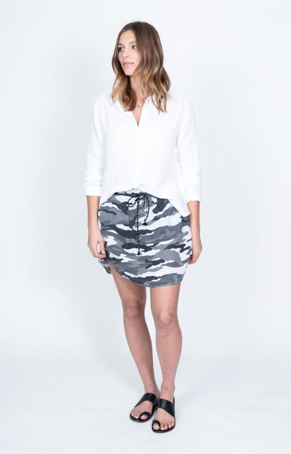 Camo Linen Skirt