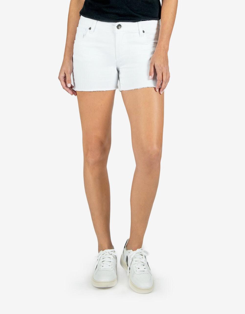 White Gidget Fray Short
