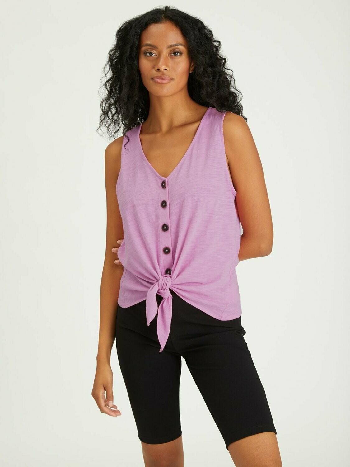Orchid Tie-Front Tank