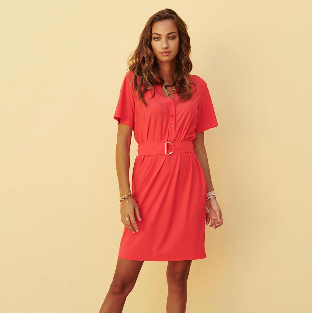 Coral Traveller Dress