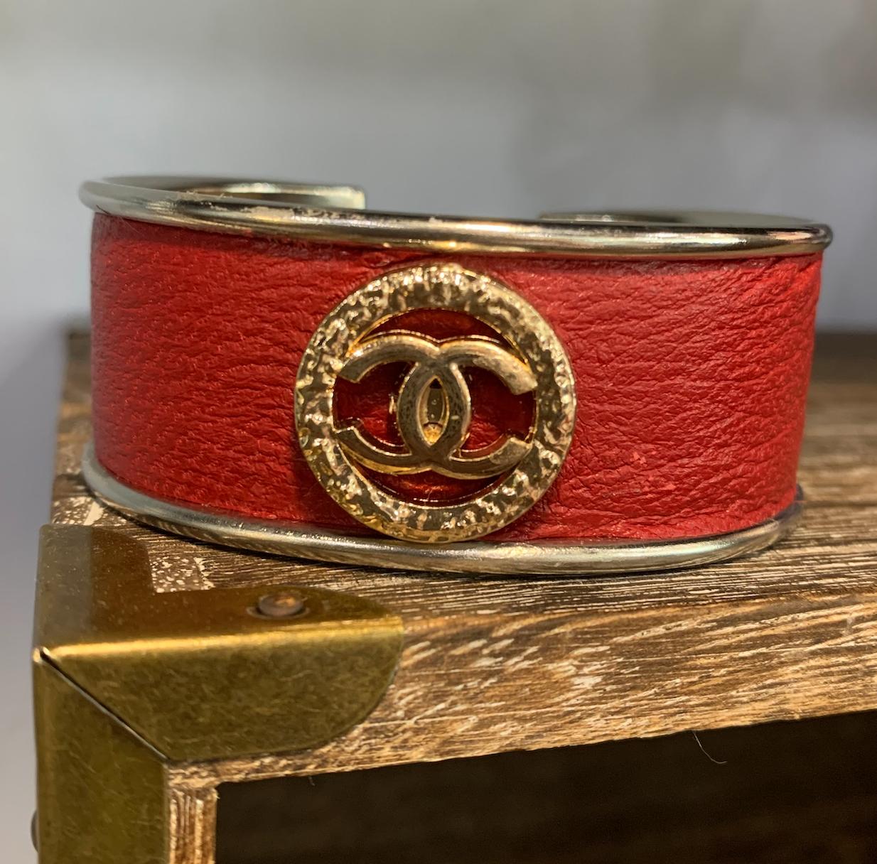 Red/Gold Chanel Petite Cuff