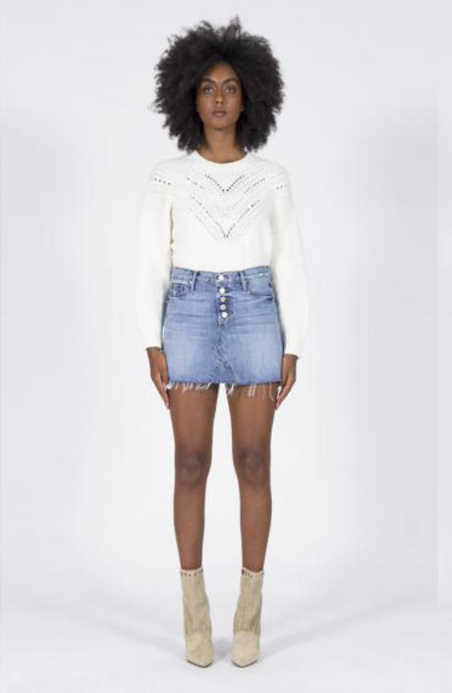 Paige Fray Mini Skirt