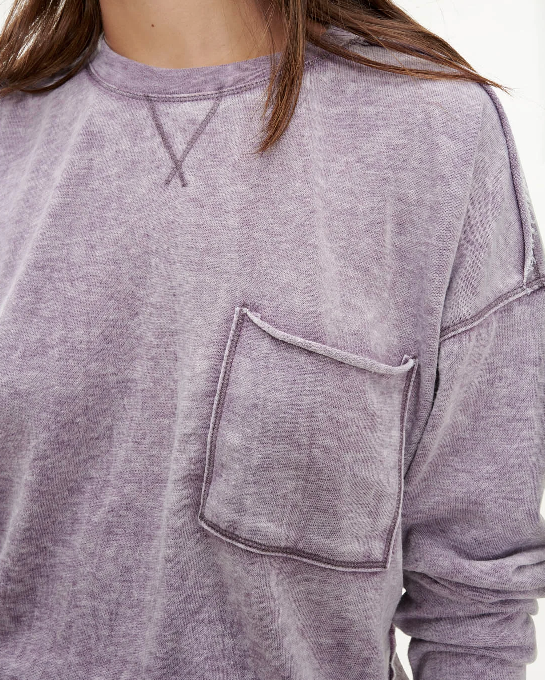 Terry Burnout Pullover