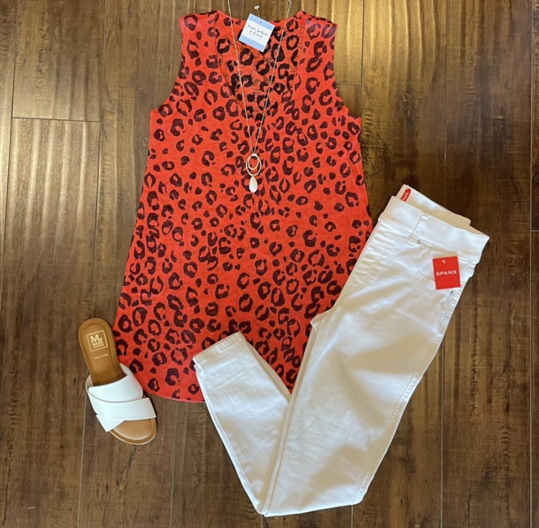 Red Cheetah Print Tank
