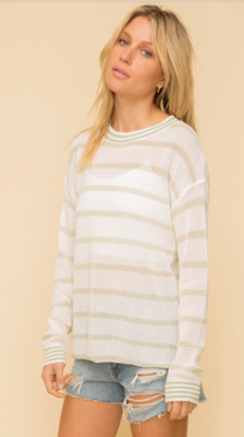 Sage Stripe Sweater