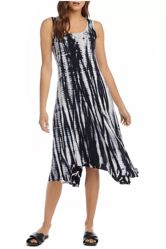 Tie-Dye Seamed Dress