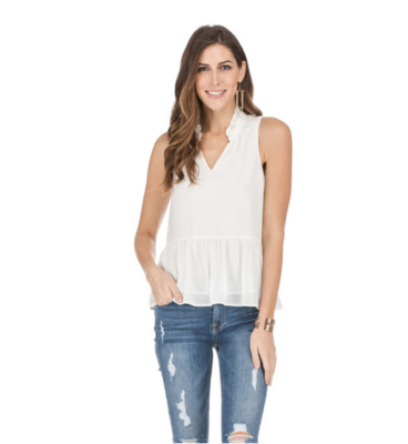 White Tiered Blouse