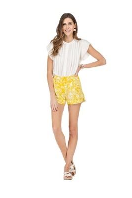 Mustard Floral Short