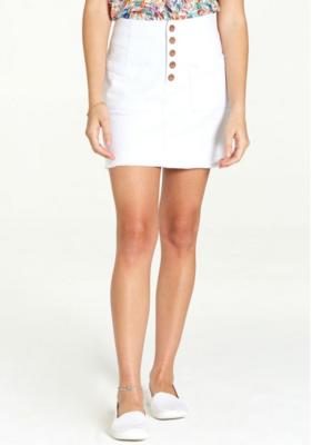 White Kaylee Skirt