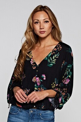 Midnight Floral Blouse
