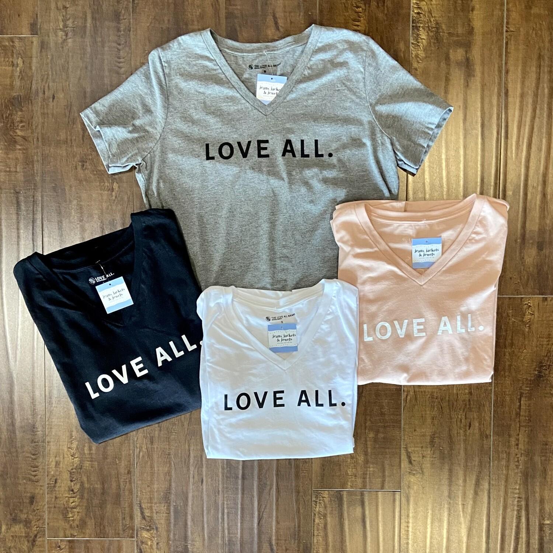 'Love All' V-Neck Tee