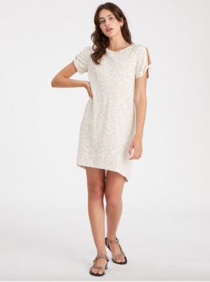 Leopard Twist-Sleeve Dress