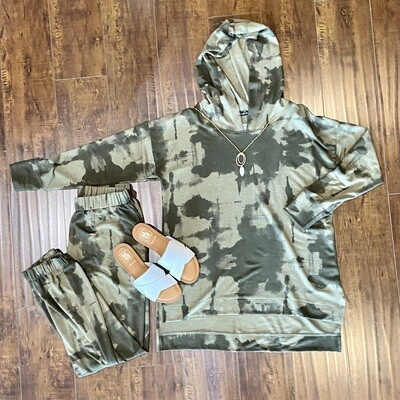 Olive French Terry Hoodie