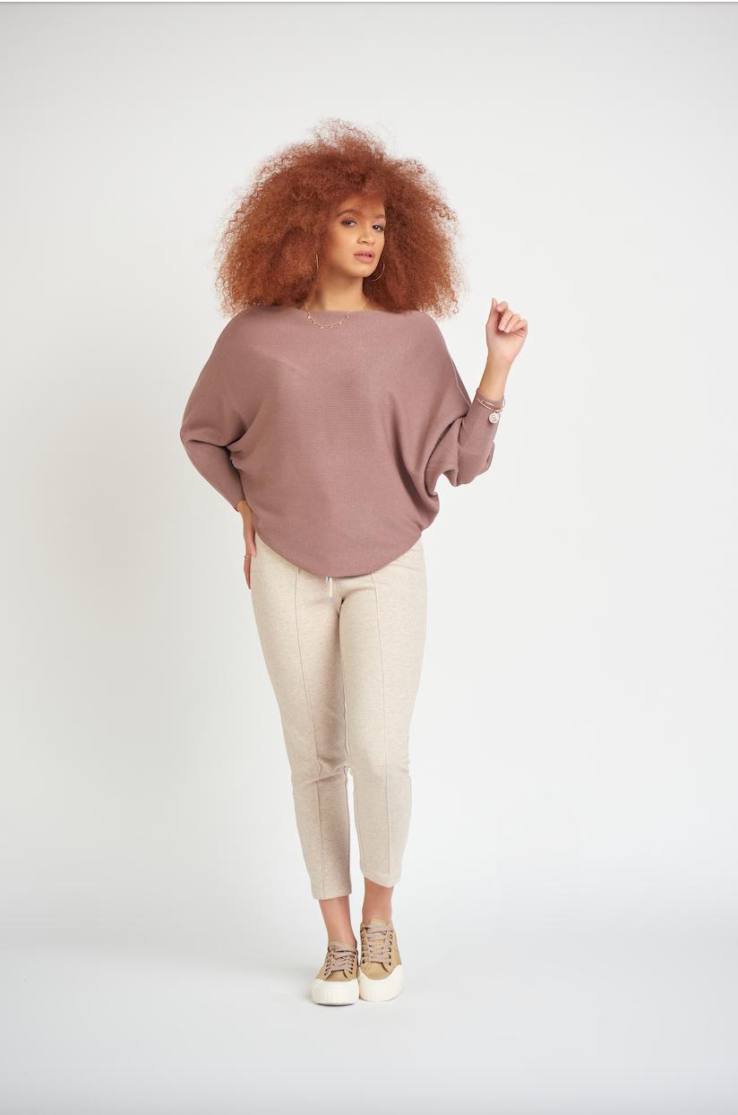 Mauve Dolman Sweater